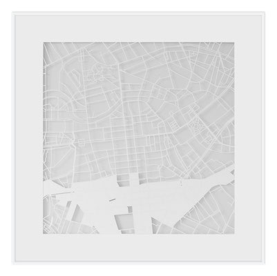 "Berlin, ""The Angel of Berlin"", 2013. 500x500 mm, hand-cut paper."