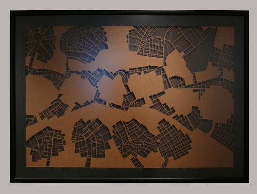 "Vienna, ""Autumn"", 2013. 900x600 mm, hand-cut paper."