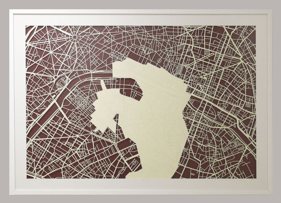 "Paris, ""Chimera III"", 2014. 900x700 mm, hand-cut paper."