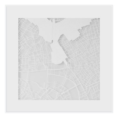 "London, ""The Angel of London"", 2013. 500x500 mm, hand-cut paper."