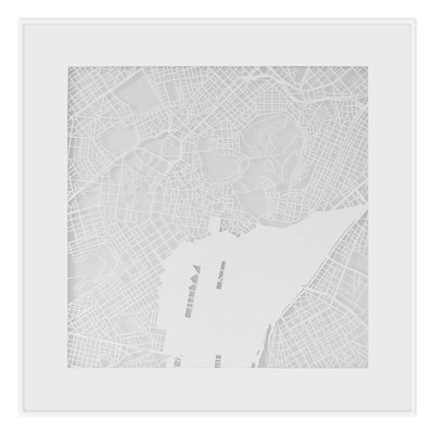 "Athens, ""The Angel of Athens"", 2013. 500x500 mm, hand-cut paper."