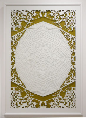 "Vienna, ""Affinity I"",  2014. 600x900 mm, hand-cut paper."