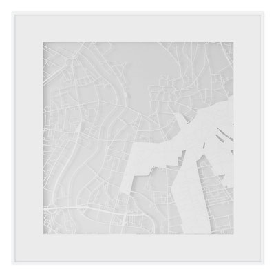 "Vilnius, ""The Angel of Vilnius"", 2013. 500x500 mm, hand-cut paper."