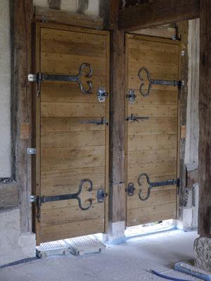 Portes à planches croisées