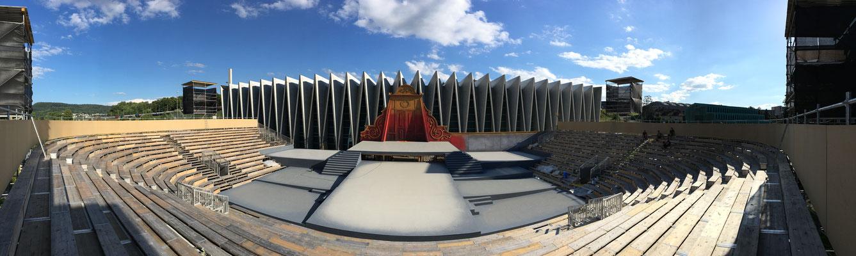 Verdi-Arena, Rigoletto 2016, Bühne Karel Spanhak, Prestige Image Minsk