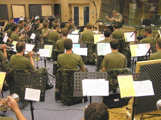 Rekrutenspiel Aarau mit Dirigent Max Schenk