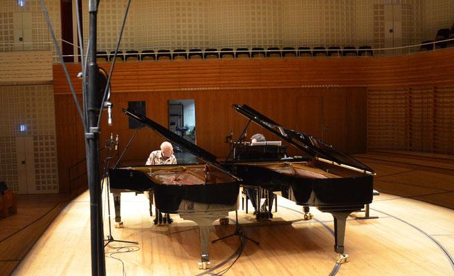 David Helfgott und Rhodri Clarke während dem Soundcheck