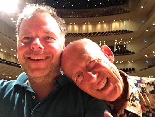 David Helfgott und ich nach dem Soundcheck!