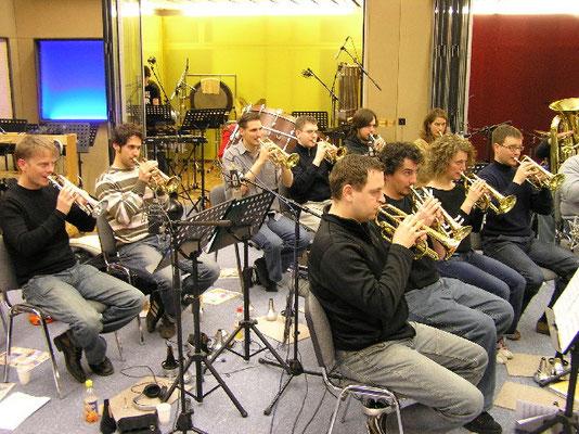 Brass Band Bürgermusik Luzern mit Dirigent Cousin Tuor