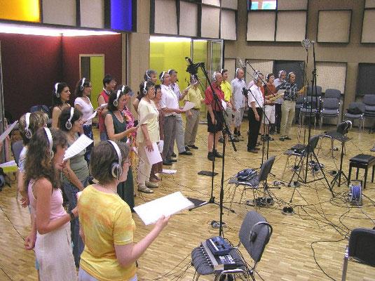 DRS Singers unter der Leitung von Christoph Cajöri