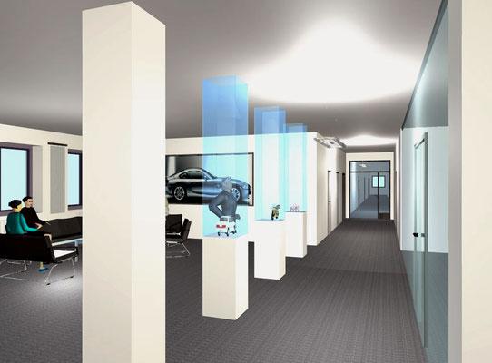 Visualisierungen/Empfang und Büro für BMW