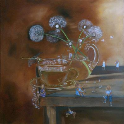 """Dandelions "" (90×90cm) 2021"