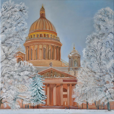 """""""Isaakskathedrale"""" (40x40cm.) 2021"""