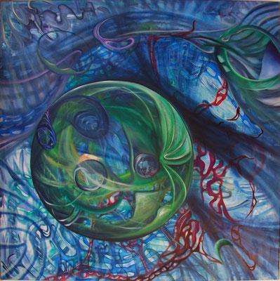 """Stillleben des Universums – Ⅳ"" (90×90cm) 2014"