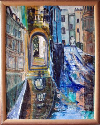 """""""Gassen"""" (70×90cm) 2011"""