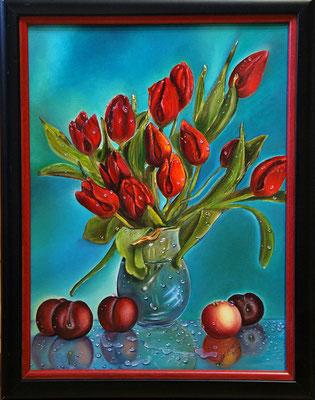 """""""Tulpen"""" (30×40cm) 2014"""