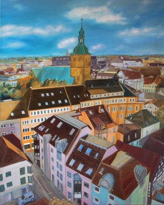 """""""Dächer"""" (80×100cm) 2018"""