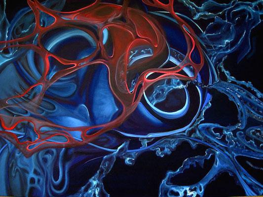 """Stillleben des Universums – Ⅰ"" (100×70cm) 2011"