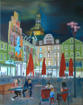 """Marktplatz"" (80×100cm) 2018"