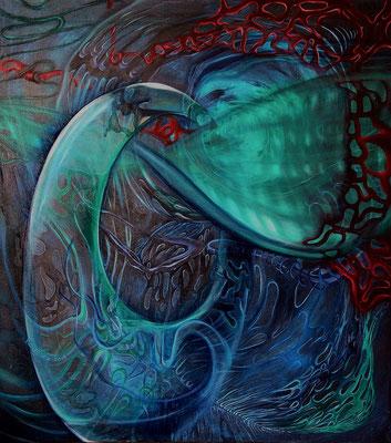 """Stillleben des Universums – Ⅲ"" (80×90cm) 2013"