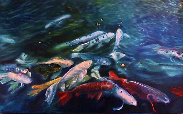 """""""Fische 1"""" (50×80cm) 2014"""