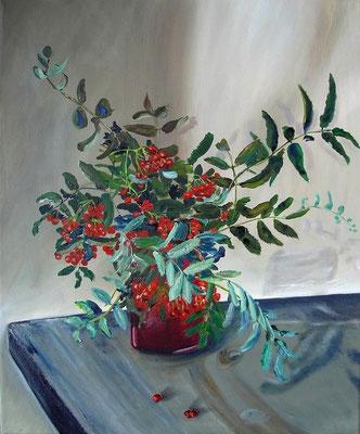 """""""Vogelbeeren"""" (40×50cm) 2011"""