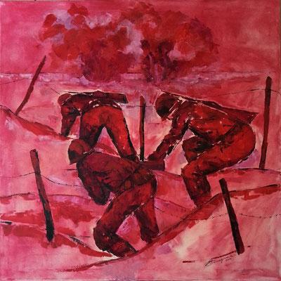"""i miei dipinti alla collettiva """"Riflessi di Storia 1915-1918"""" Centenario Grande Guerra"""