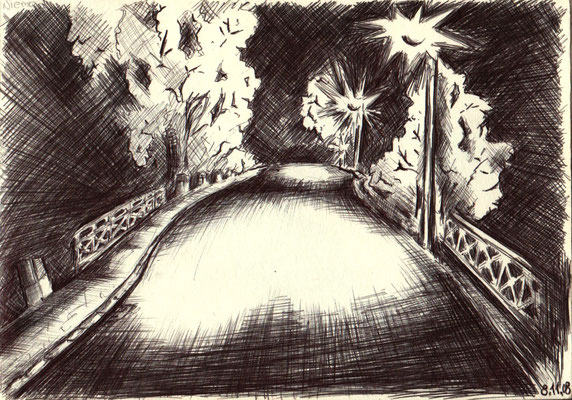 Kugelschreiber. Zugbrücke
