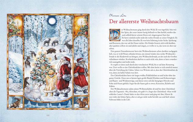"""Illustration zu Hermann Löns, """"Der allererste Weihnachtsbaum"""""""