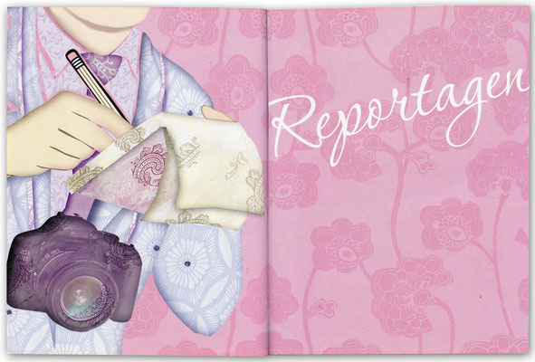 "Illustration für TINA Best of, Thema ""Reportagen"" Collage und Photoshop  © Caroline Ronnefeldt"