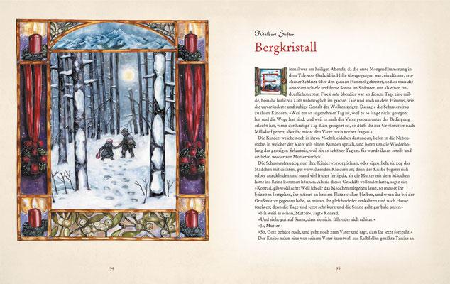 "Illustration zu Adalbert Stifter ""Bergkristall"""