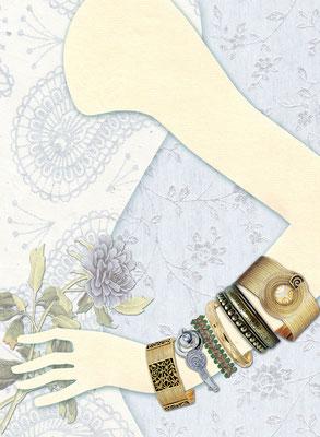 Illustration für GALA Wedding Hochzeitsschmuck Collage und Photoshop  © Caroline Ronnefeldt