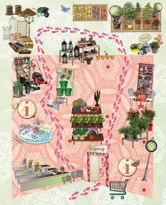 Infographik für FREUNDIN Leichter Leben Motiv Gartencenter  © Caroline Ronnefeldt