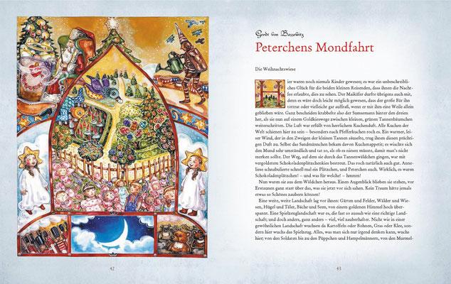 """Illustration zu dem Kinderklassiker """"Peterchens Mondfahrt"""", Gerdt von Bassewitz"""