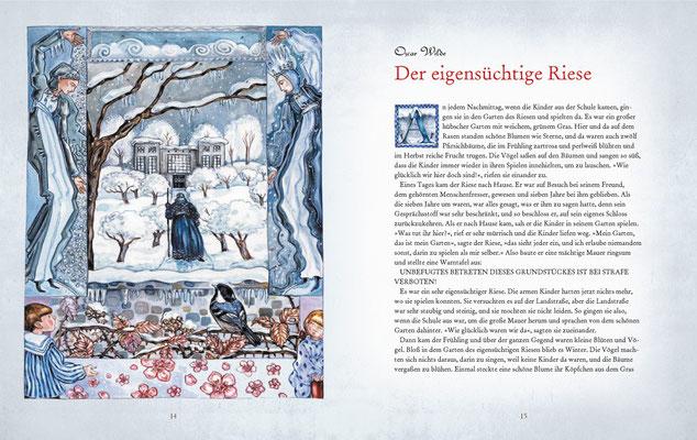 """Illustration zu Oscar Wildes Kunstmärchen """"Der eigensüchtige Riese"""""""