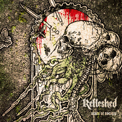 CD Cover artwork for death metal band Refleshed
