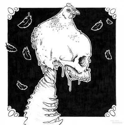 """chicken"" Inktober 2018"