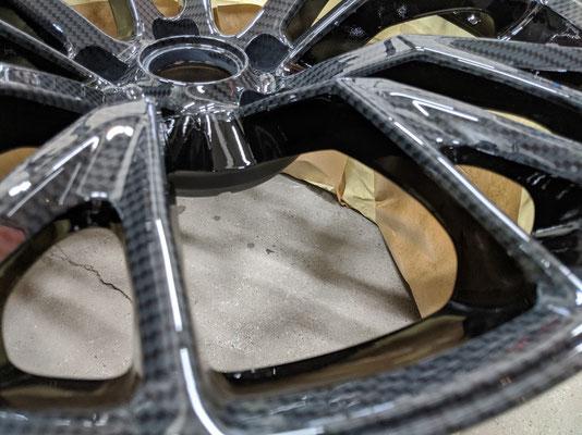 Corvette velg gespoten in Blanke lak