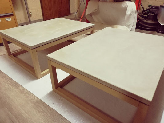 Produktion von einem Salontisch in Beton. Concrete Design, Betonmöbel, Betondesign, Esstisch aus Beton, design11, Bur Schreinerhandwerk GmbH