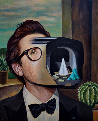 "Stray  Toaster - Collaboration with Francois Escalmel - Oil on Canvas - 24"" x 30"" - 660$"