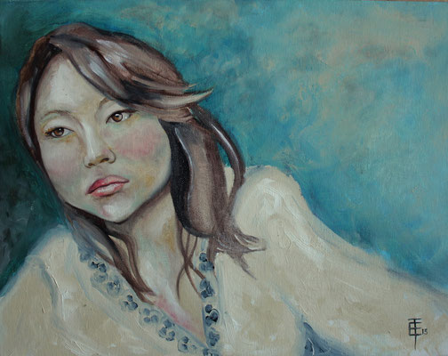 Hana - Oil on Canvas Board - 11 x 14 - PRIVATE COLLECTION
