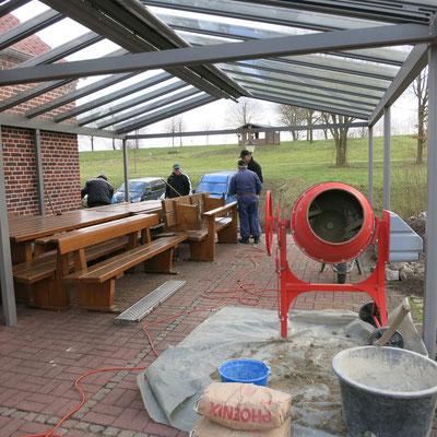 12.02.20 - Die Fundamentarbeiten werden vorbereitet