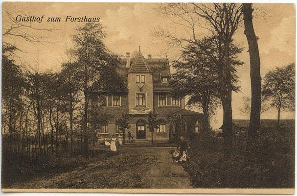 1909 - Gustav Voigt und Bernadine, geb. Brinkmann aus Essen, erbauten das Forsthaus