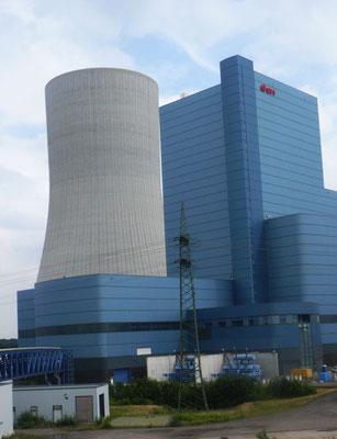 Das Kraftwerk ist vom Besucherzentrum zu sehen