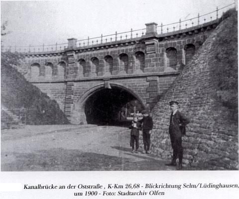 Die Schiefe Brücke (Unterführung der damaligen B 235)
