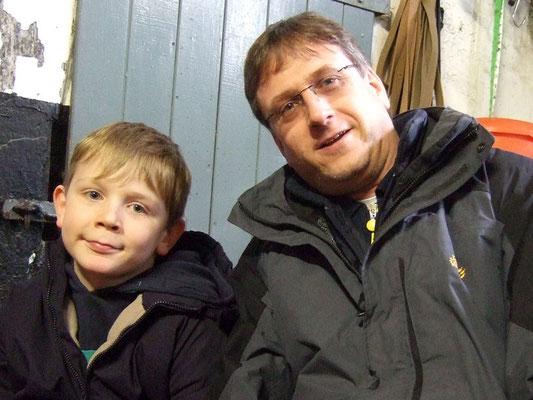 der jüngste Wanderer mit Papa
