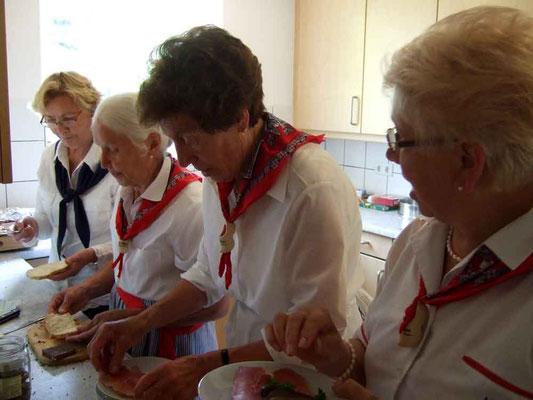 Das fleißige Team in der Küche