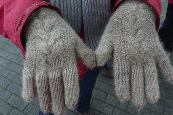 warme Alpaka-Handschuhe