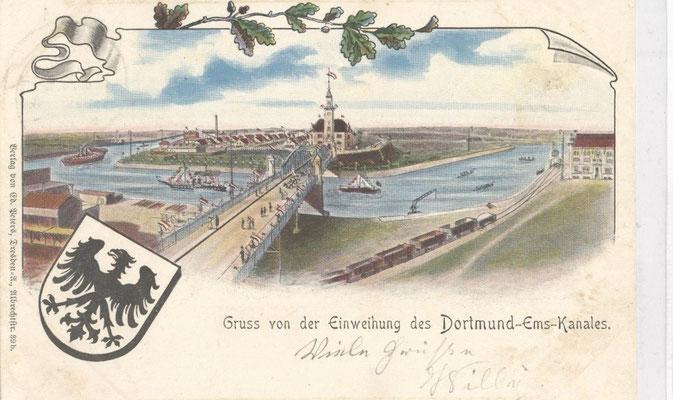 Eine alte Postkarte anlässlich der Einweihung des DEK.