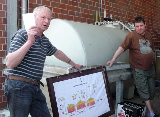 ... und an großen Anschautafeln die Funktion einer Biogasanlage